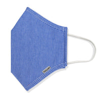 Menswear Mask - Knit Blue Pinwheel