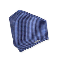 Menswear Mask - Two Blue Houndstooth