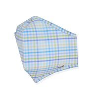 Menswear Mask - Blue / Green Check