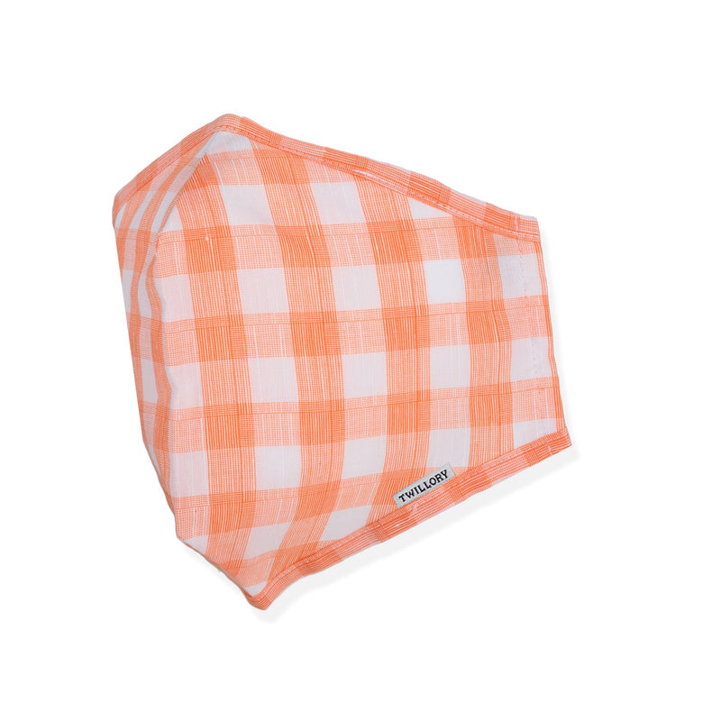 Menswear Mask - Orange Gingham