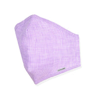 Menswear Mask - Linen Purple Pinwheel