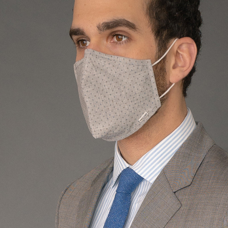 Menswear Mask - Grey Floral