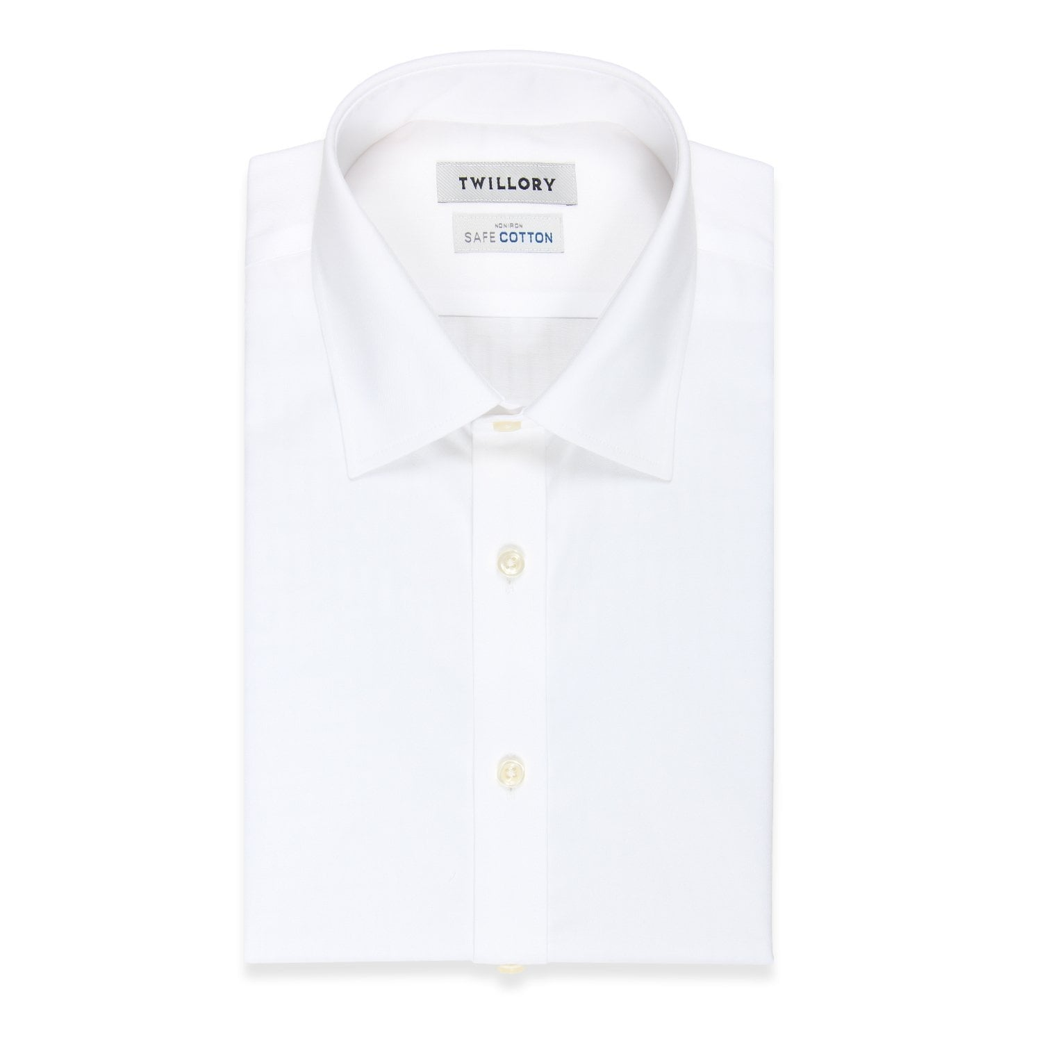 Non Iron White Twill  (Pointed Collar)