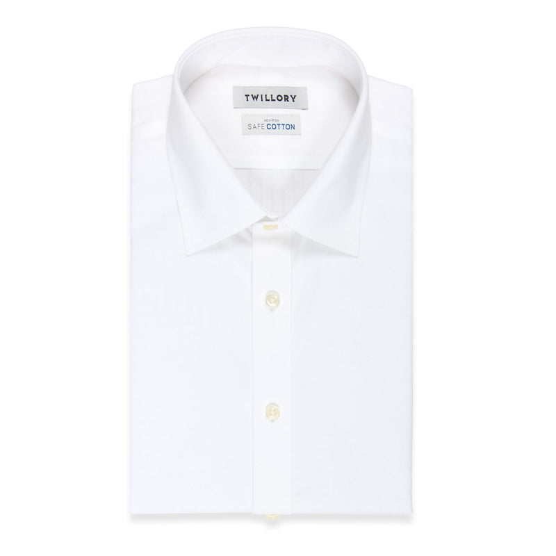 Non-Iron White Twill (Pointed Collar)