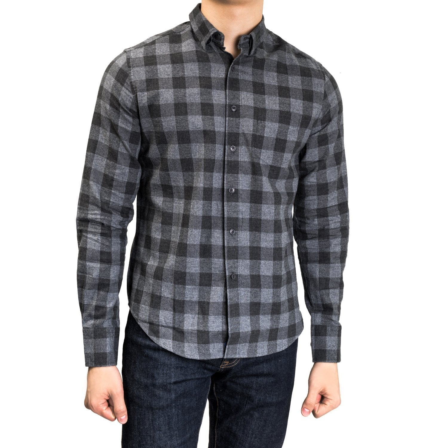 untuck(able) Charcoal Gingham