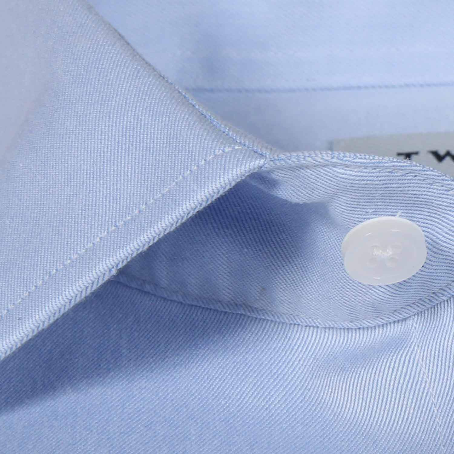 French Cuff Non-Iron Blue Twill