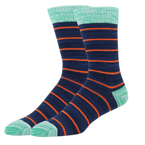 Navy with Thin Orange Stripe