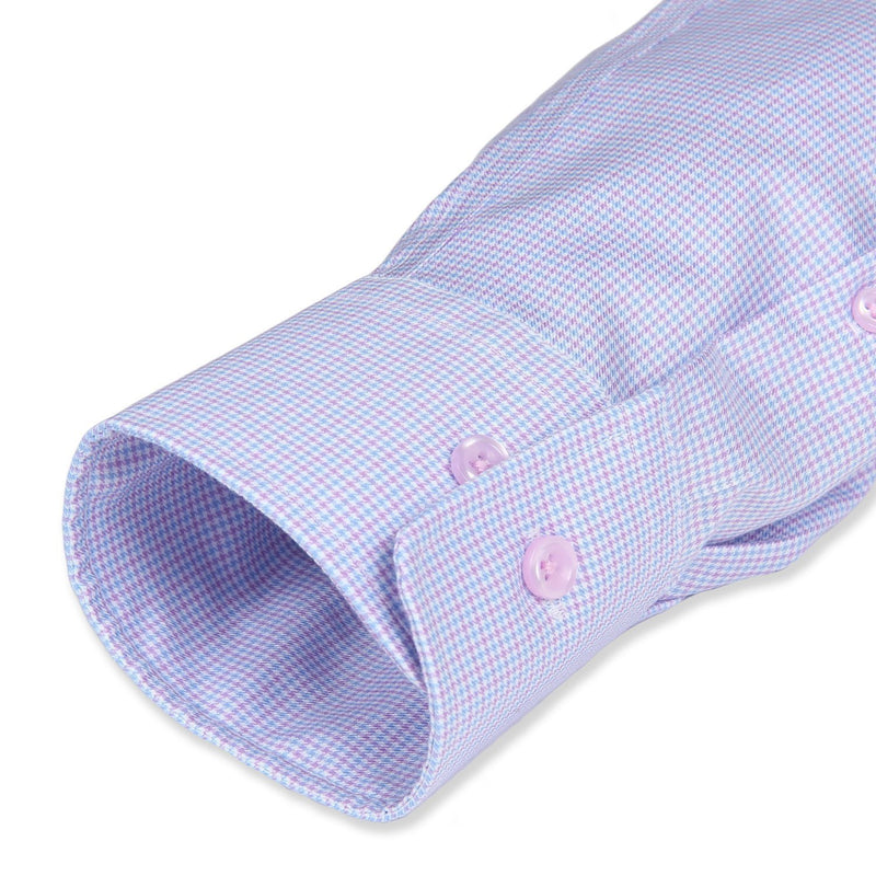 Non-Iron Purple/Blue Houndstooth