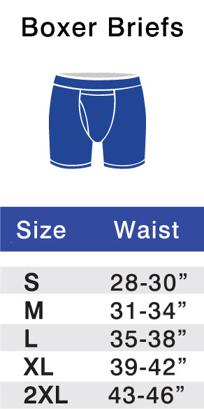Twillory Boxer Brief Size Chart