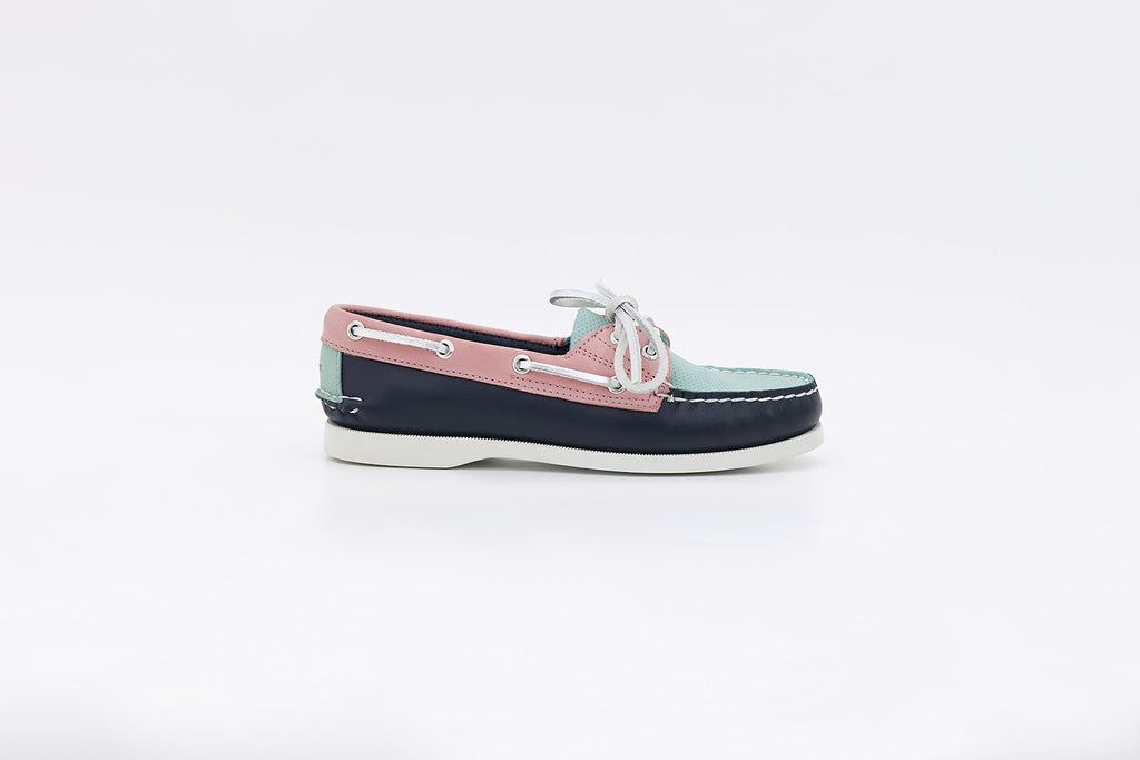 Women's Bayana Boat Shoe Navy-Pink-Blue