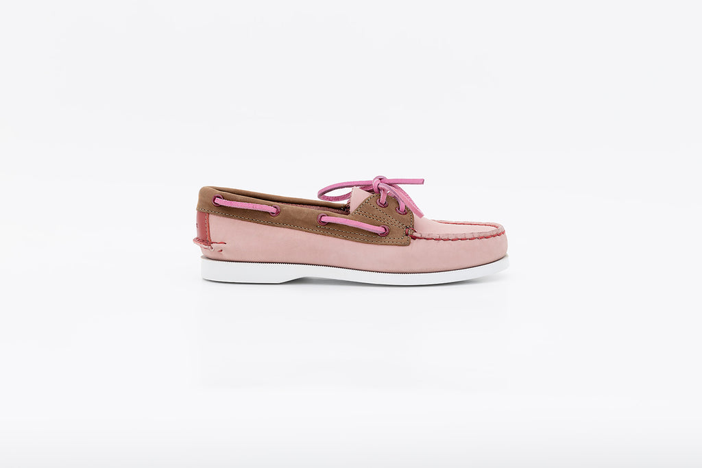 Women's Bayana Boat Shoe Pink-Brown-Wine