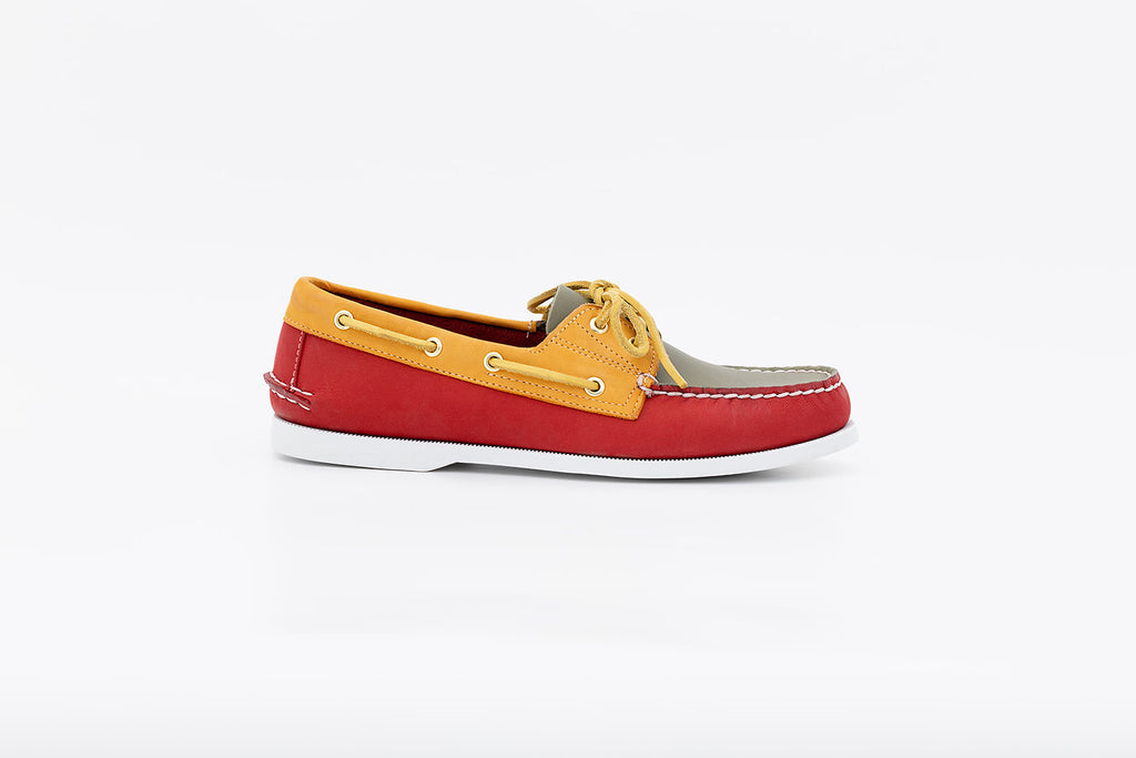 Bayana Boat Shoe Red-Yellow-Green