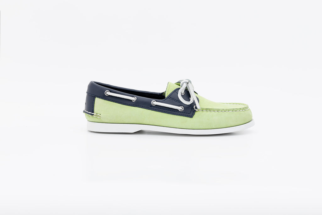 Bayana Boat Shoe Lime Green-Navy