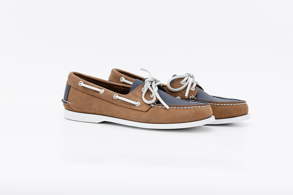 Bayana Boat Shoe Brown-Navy