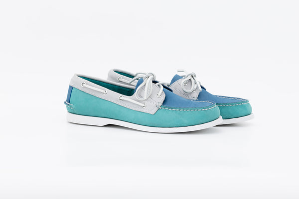 Bayana Boat Shoe Sea Green-Blue-Grey
