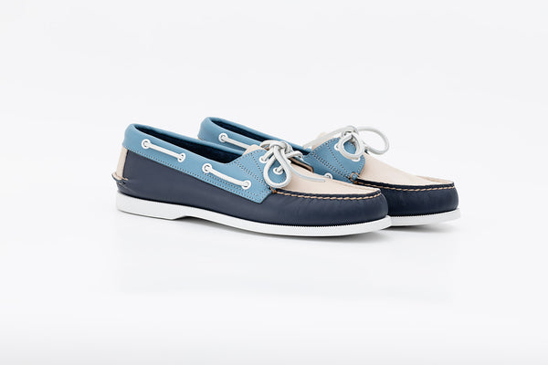 Bayana Boat Shoe Blue-Light Blue-Dove