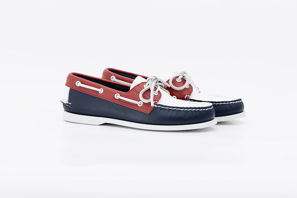 Bayana Boat Shoe Navy-Red-White