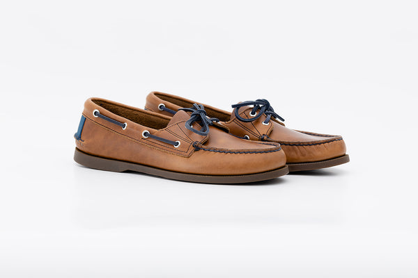 Bayana Boat Shoe Toffee-Insignia Blue