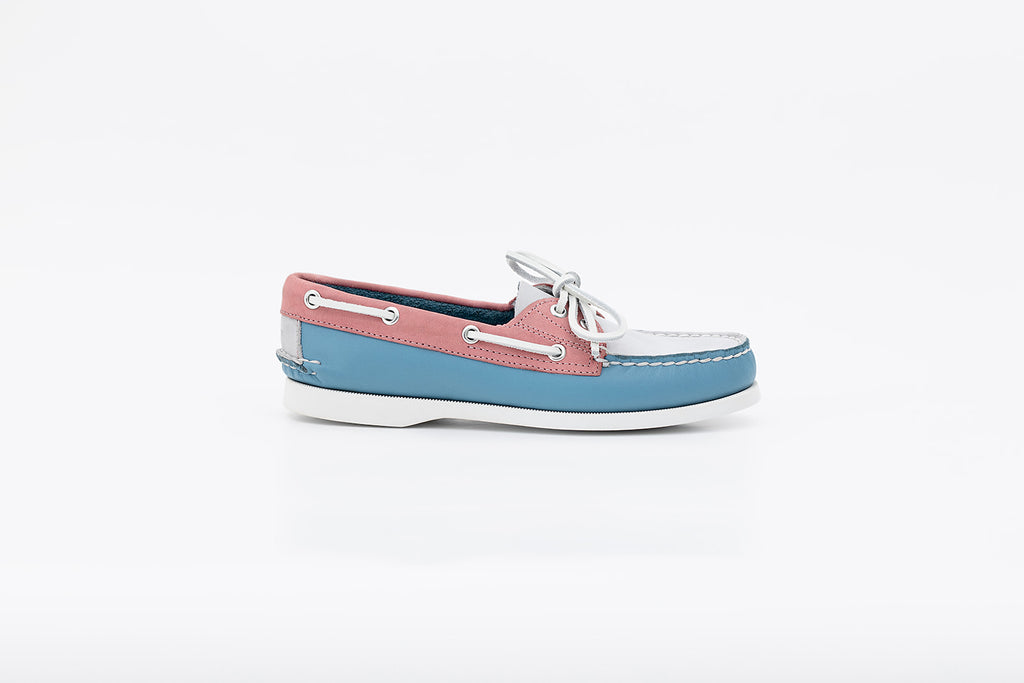 Women's Bayana Boat Shoe Blue-Rose-Grey