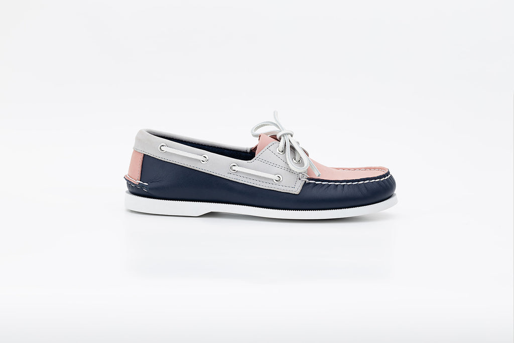 Bayana Boat Shoe Blue-Grey-Pink