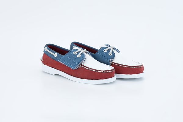 Bayana Boat Shoe Red-Blue-White