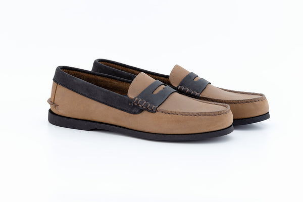 Bayana Penny Boat Shoe Brown-Black