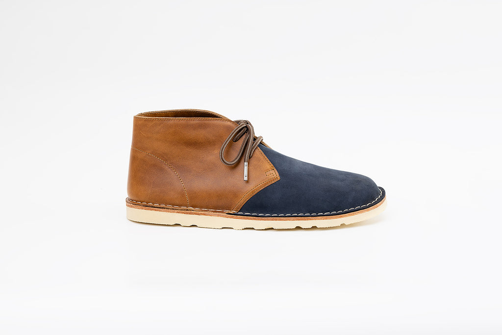 Neptune Chukka Boot Navy-toffee