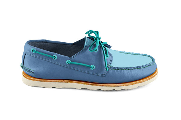 Heartline Boat Shoe Blue-LT Blue