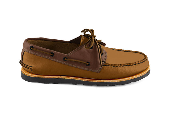 Heartline Boat Shoe Toffee-Brown