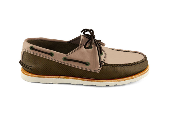 Heartline Boat Shoe Brown-Tan