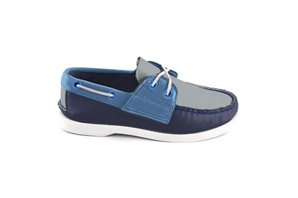 Kid's Bayana Boat Shoe Navy-Blue-Grey
