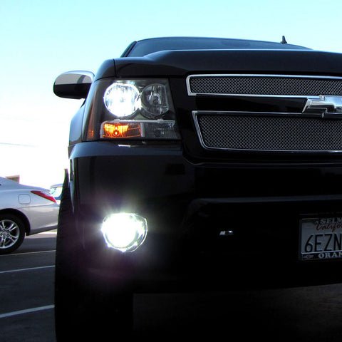 Suburban HID headlights and fog lights