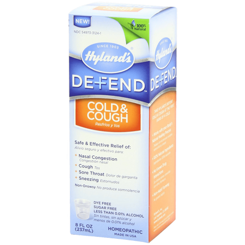 Hylands Defend Cough and Cold 8 Ounce