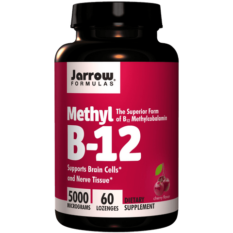 Jarrow Formulas Methylcobalamin Methyl B12 5000mcg 60 Lozenges