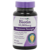 Natrol Biotin 10000 mcg Maximum Strength Tablets 100 Count