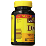 Nature Made Vitamin D3 2000 IU Value Size 220 Count