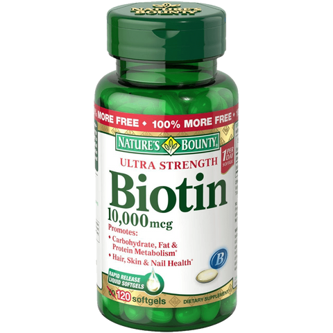 Natures Bounty Biotin 10000 MCG Softgels 120 Count