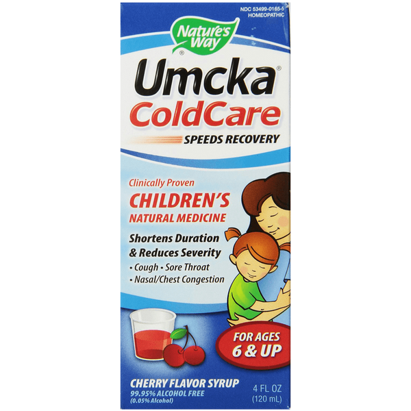 Natures Way Umcka Coldcare Childrens Cherry Syrup 4 ounce