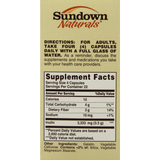 Sundown Naturals Inulin Fiber Prebiotic Mineral Supplement Capsules 90 Count