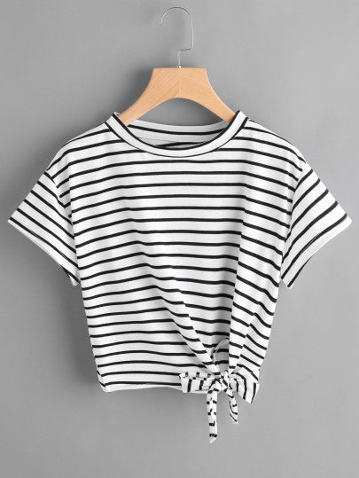 All Striped Out Crop Top