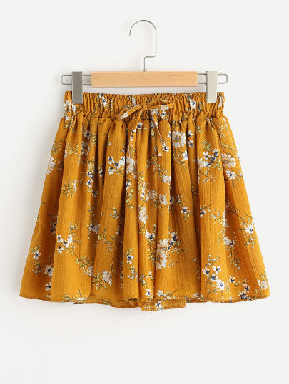 Lesia Floral Printed Drawstring Short For Sale Now Online| Pixiecove
