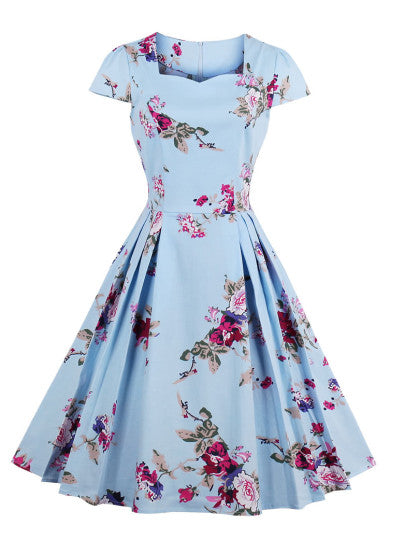 All Over Floral Circle Dress - Midi Dress For Sale | Pixiecove