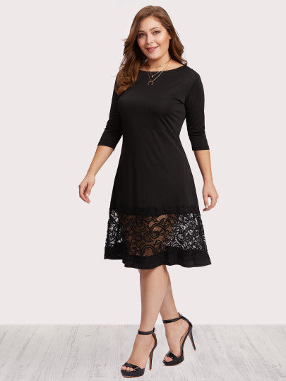 Simply Fabulous Lace Panel Dress