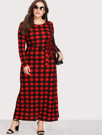 All Mine Plaid Full-Length Dress - Plaid Dress For Sale | Pixiecove