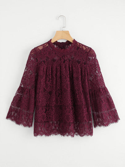 Audriana Flounce Eyelash Lace Top For Sale | Pixiecove