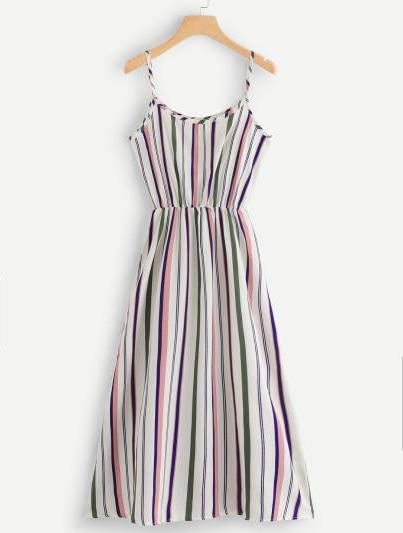 Nirvana Striped Cami Dress - Midi Dress For Sale | Pixiecove