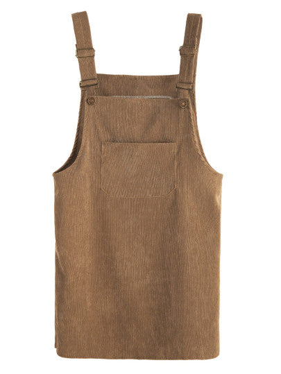 Party Mood Corduroy Pinafore Dress For Sale | Pixiecove