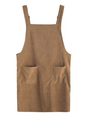 Party Mood Corduroy Pinafore Dress