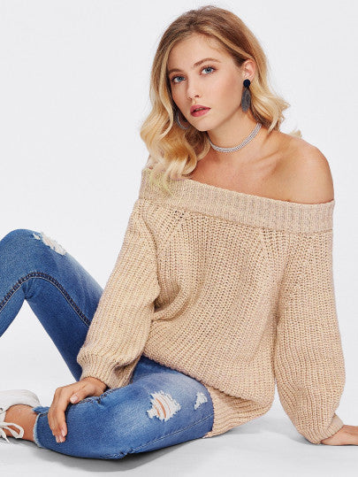 Staying Overnight Solid Jumper - Knitted Jersey For Sale | Pixiecove