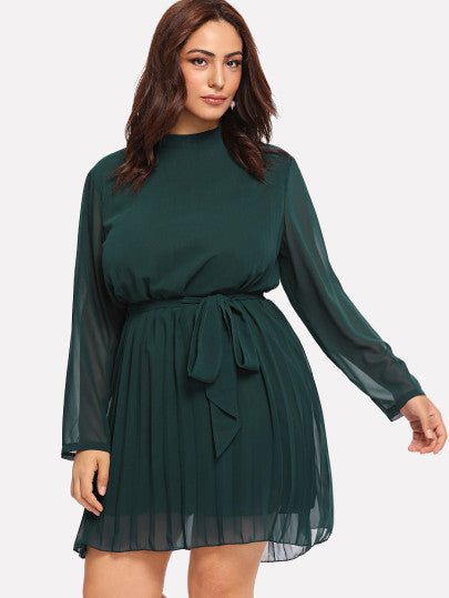 Just Wondering Tie Waist Dress - Plus Size Dress For Sale | Pixiecove